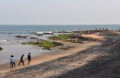 Пляж Bhimili в Visakhapatnam стоковое изображение rf