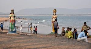 Пляж Bhimli на Vishakhpatnam стоковое фото rf