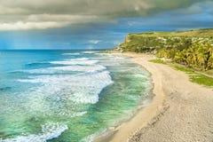 Пляж Boucan Canot на Острове Реюньон, Африке Стоковое Изображение