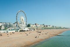 пляж brighton стоковые фотографии rf