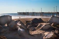 пляж ca около пристани venice Стоковая Фотография