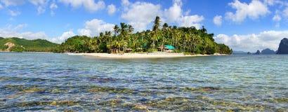 Пляж Cabanas Las. El Nido, Филиппиныы Стоковые Фото
