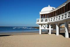 пляж cadiz стоковые изображения