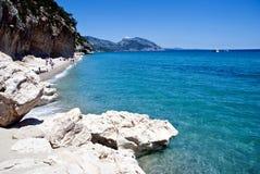 пляж cala luna Сардиния Стоковые Фотографии RF