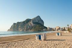 пляж calpe стоковое фото rf