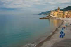 Пляж Camgoli, Италия стоковая фотография