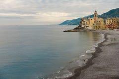 Пляж Camgoli, Италия стоковое изображение rf