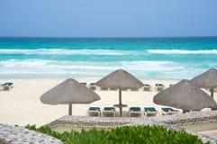 пляж cancun Мексика Стоковые Фото