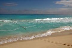 пляж cancun Мексика Стоковая Фотография RF