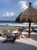 пляж cancun Мексика Стоковые Изображения RF