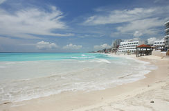 пляж cancun сценарный Стоковое Изображение