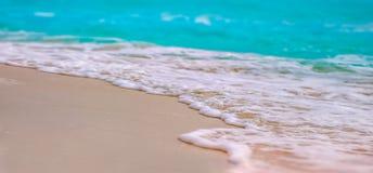 Пляж Cancun с открытым морем Стоковое фото RF