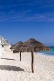 пляж cancun Стоковое Фото