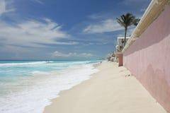 пляж cancun Стоковые Изображения