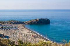 Пляж Capogrosso, Cilento в Италии Стоковое Изображение RF