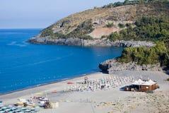 Пляж Capogrosso, Cilento в Италии Стоковые Фотографии RF