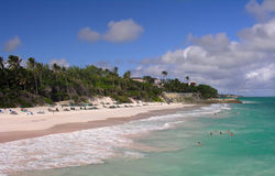 пляж caribbean стоковое изображение rf