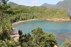 пляж caribbean dominica batibou Стоковые Фотографии RF