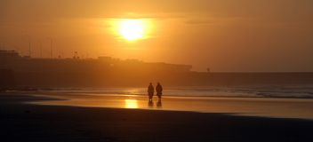 пляж casablanca Стоковые Фото