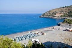 Пляж, Cilento в Италии Стоковые Изображения RF