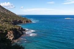 Пляж Cliifs Кипр Стоковое фото RF