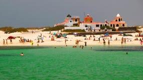 Пляж Concha Ла El Cotillo, Фуэртевентура, Канарские острова, Испания стоковое фото rf