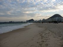 пляж copacabana de janeiro rio стоковое изображение