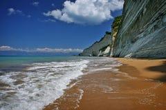 пляж corfu Стоковые Изображения