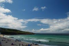 пляж cornish Стоковые Изображения RF