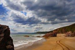 пляж cornwall стоковые изображения
