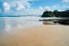 пляж cornwall newquay стоковая фотография