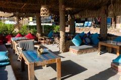 Пляж Dahab на Красном Море, Синай стоковые фото