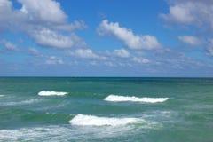 Пляж Dania смотря восточный Стоковые Фотографии RF