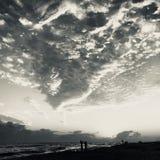 Пляж Destin на сумраке Стоковые Изображения RF