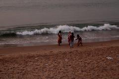 Пляж Digha около Kolkata в Индии стоковая фотография rf