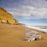 пляж dorset стоковое фото rf