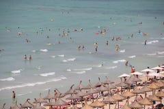 Пляж El Arenal в Мальорке Стоковое Изображение