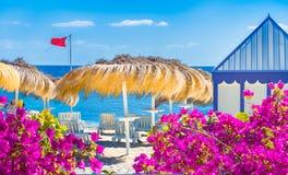 Пляж El Duque Тенерифе стоковое изображение rf