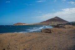 Пляж El Medano Тенерифе, Испания Стоковая Фотография RF