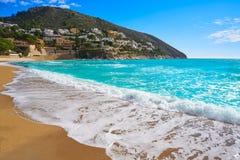 Пляж El Portet в Moraira Испании стоковое фото rf