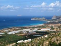 Пляж Falasarna стоковое изображение rf