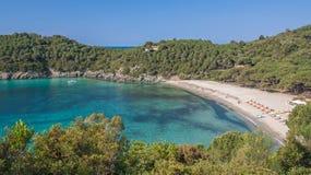 Пляж Fetovaia на острове Эльбы, Тоскане Стоковая Фотография RF