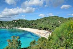 Пляж Fetovaia, остров Эльбы, Тосканы, Италии Стоковые Изображения RF