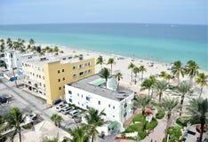 Пляж FL Голливуда стоковое изображение rf