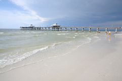 пляж florida Fort Myers Стоковые Изображения