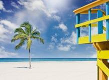 пляж florida miami Стоковое Изображение
