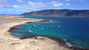 Пляж Francesa, Канарские острова острова Graciosa стоковые изображения rf