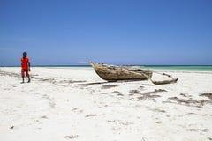 Пляж Galu - Kinondo в Кении Стоковые Изображения
