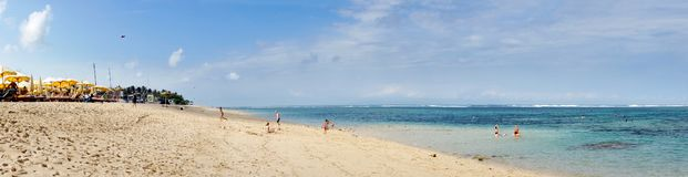 Пляж geger Pura bali Индонесия стоковое фото rf