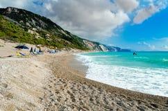 Пляж Gialos Стоковые Изображения